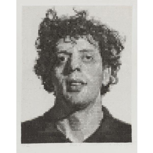 Chuck Close-Phil I, White (Butler Institute 23)-1982