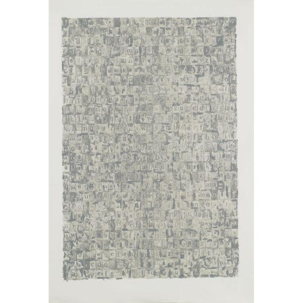 Jasper Johns-Gray Alphabets (Ulae 57)-1968
