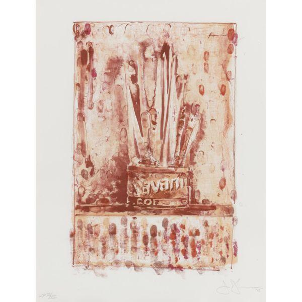 Jasper Johns-Savarin 3 (Red) (Ulae 193)-1978