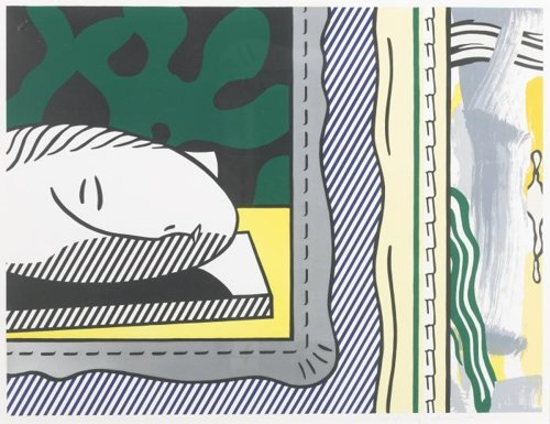 Roy Lichtenstein-Sleeping Muse, from the Paintings Series-1984