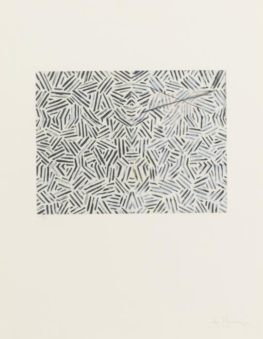Jasper Johns-Corpse And Mirror (Ulae 167)-1976