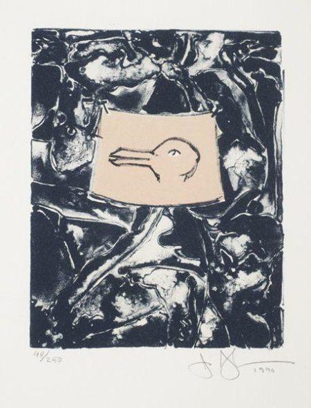 Jasper Johns-Untitled (i) For the American Center; (ii) Ocen-1946