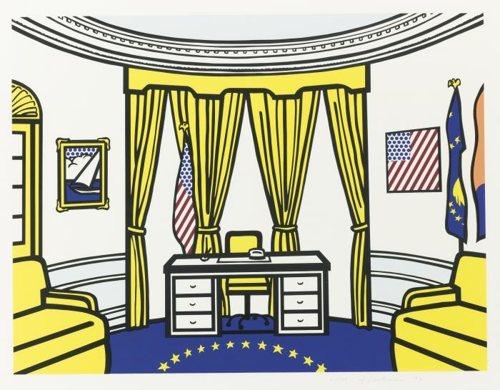 Roy Lichtenstein-The Oval Office-1992