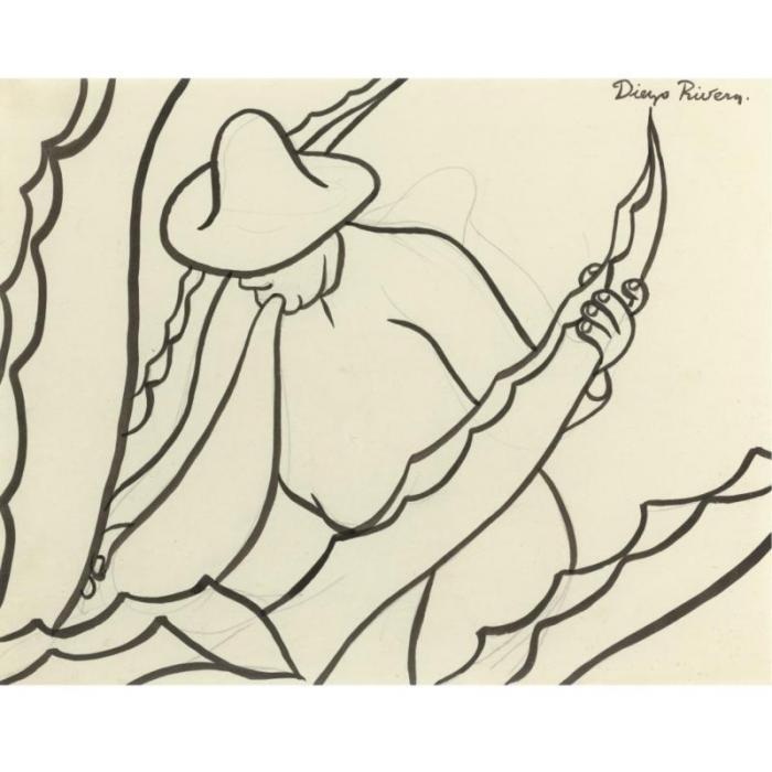 Diego Rivera-El Tlachiquero-