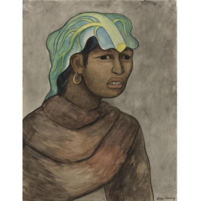 Diego Rivera-Woman with Banana Leaf-1940