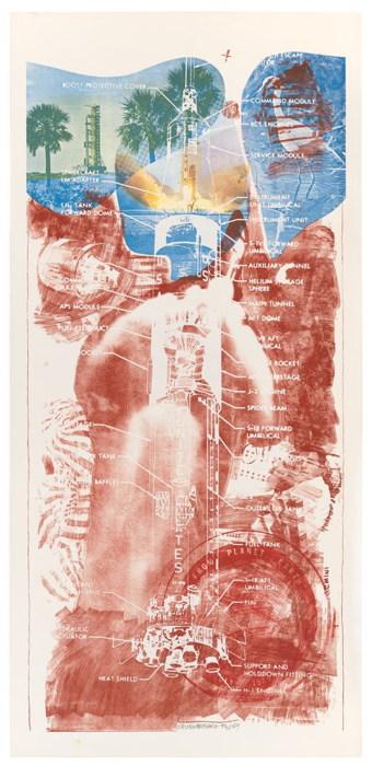 Robert Rauschenberg-Robert Rauschenberg - Sky Garden (From Stoned Moon Series)-1969
