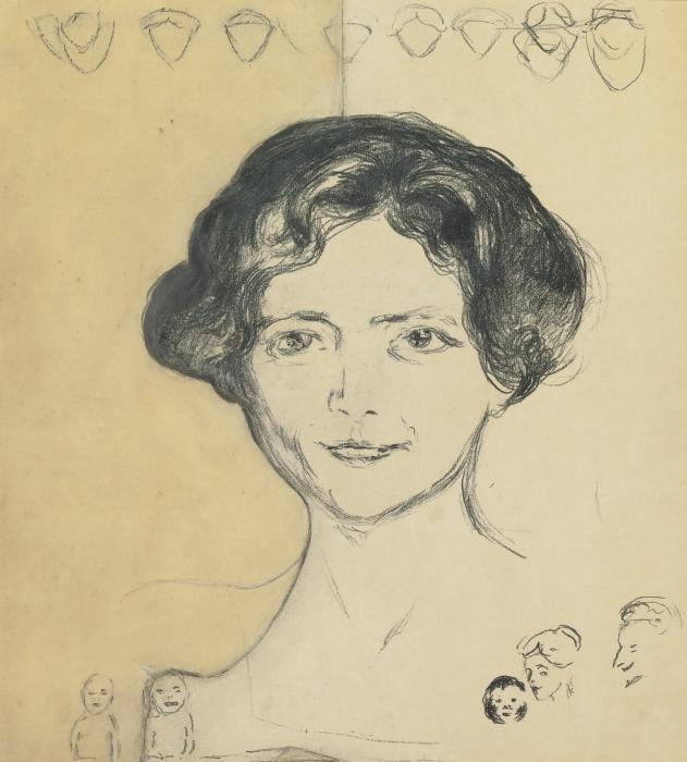 Edvard Munch-Edith Rode (Woll 311)-1908