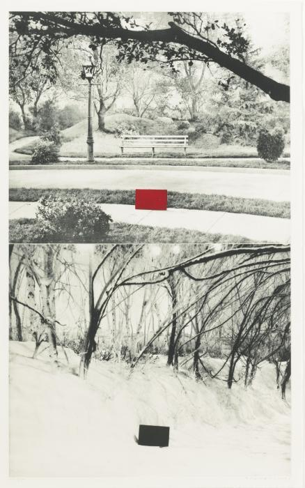 John Baldessari-Two Sets (one with Bench)-1990
