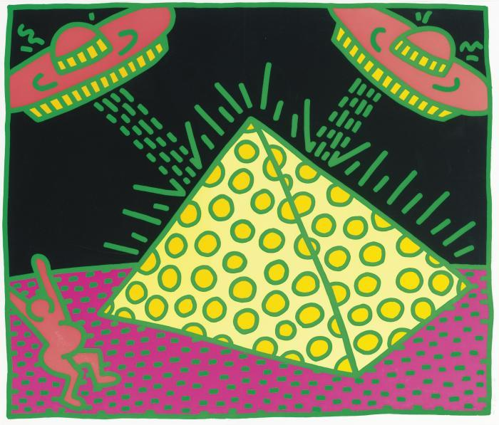 Keith Haring-Keith Haring - Untitled 1-5: One Plate-1983