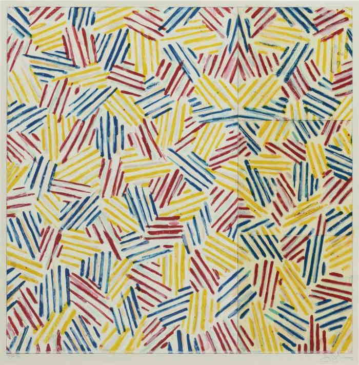 Jasper Johns-#6 (AFTER 'UNTITLED, 1975') (ULAE 179)-1976