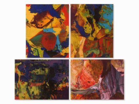 Gerhard Richter-Four Works: (i) Ifrit (P8); (ii) Bagdad (P9); (iii) Bagdad (P10); (iv) Aladin (P11)-2014