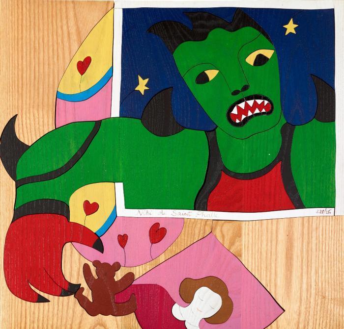 Niki de Saint Phalle-Mechant Mechant, (Sans titre), (Utan titel, from- Mechant, mechant)-1995