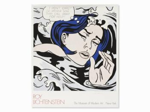 Roy Lichtenstein-After Roy Lichtenstein - Drowning Girl-1989