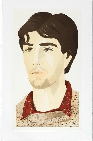 Alex Katz-Large Head of Vincent (Schroder 155)-1982
