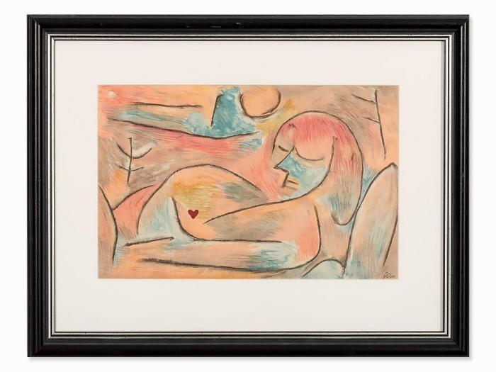 Paul Klee-Sommeil D'hiver (Komposition Mit Liegender Frau) (From The Art Magazine 'Verve', Volume 1, # 3)-1938