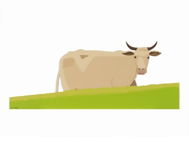 Alex Katz-Cow (Small, Cutout Edition)-2004