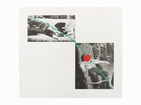 John Baldessari-Man Collapsed on Sofa; Man Tied to Chair / A Fix'd Inflexible Sorrow / Tristram Shandy-1988