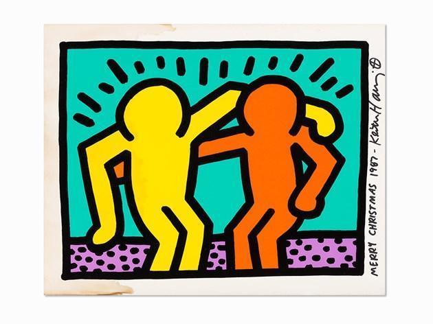 Keith Haring-Keith Haring - Best Buddies (Pop Shop 1)-1987