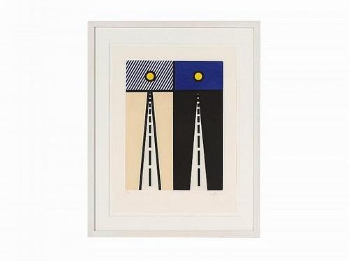 Roy Lichtenstein-Illustration for Auto Poesie: en Cavale de Bloomington-1992