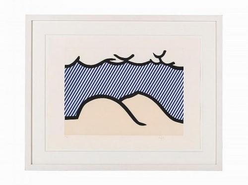 Roy Lichtenstein-Illustration for 'De Denver au Montana, Depart 27 Mai 1972'-1992