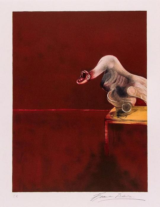 Francis Bacon-Right Panel from, Second Version of the Triptych-1988