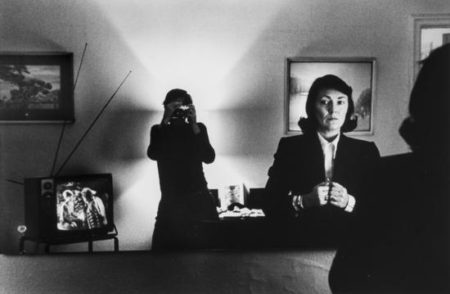 Helmut Newton-Self-portrait with June, Hotel Volnay, New York-1982