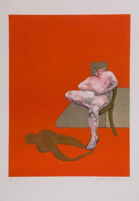 Francis Bacon-Right panel of Triptych-1984