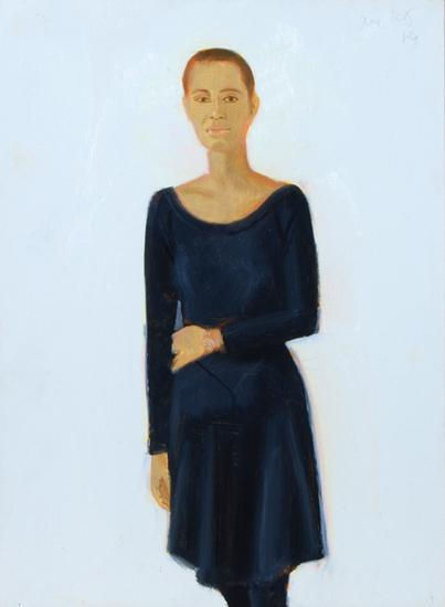 Alex Katz-Lysa - Study For Black Dress-1989