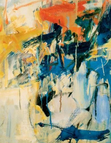 Joan Mitchell-Composition abstraite-