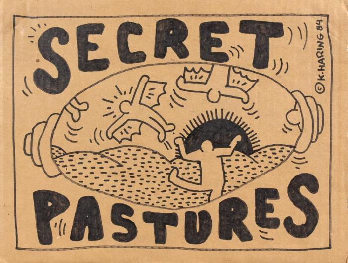 Keith Haring-Keith Haring - Secret Pastures-1984