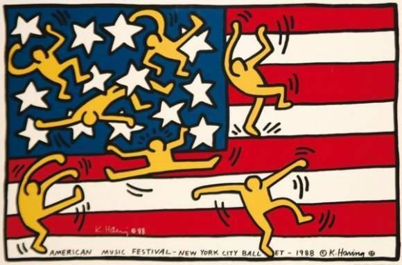 Keith Haring-Keith Haring - American Music Festival - New York City Ballet-1988