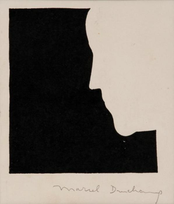 Marcel Duchamp-Self portrait from in profile-1958