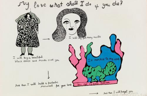 Niki de Saint Phalle-My Love What Shall I Do If You Die-1968