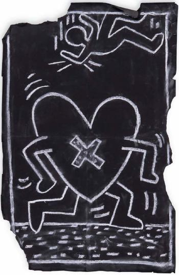 Keith Haring-Keith Haring - Subway Drawing-1985