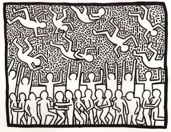 Keith Haring-Keith Haring - Raining men-1981