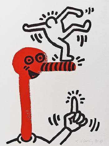 Keith Haring-Keith Haring - The story of red and blue.-1990