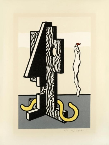Roy Lichtenstein-Figures (Surrealist Series)-1978