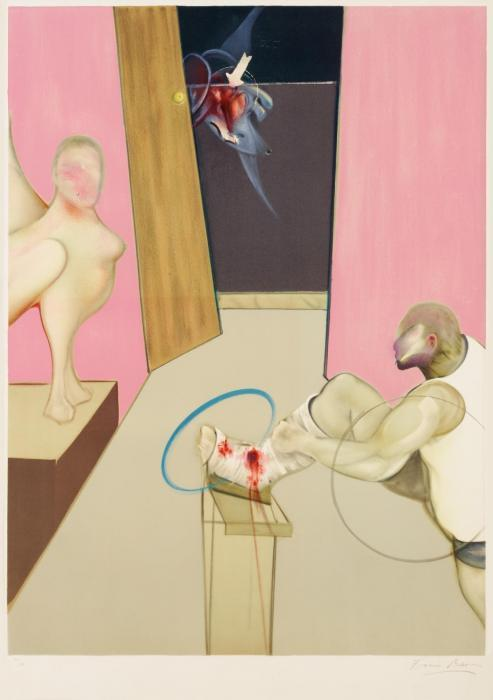 Francis Bacon-Oedipus and The Sphinx, After Ingres-1984