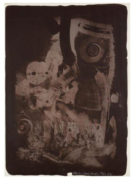 Robert Rauschenberg-Robert Rauschenberg - Earth Crust (From Stoned Moon Series)-1969