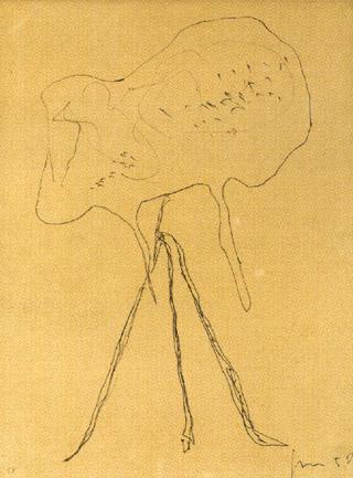 Lucio Fontana-Komposition-1950