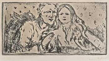 Edvard Munch-The Seducer II / Forforeren II / Der Verfuhrer II (Schiefler 404; Woll 435)-1913