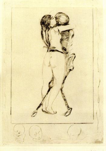 Edvard Munch-Das Madchen und der Tod-1894