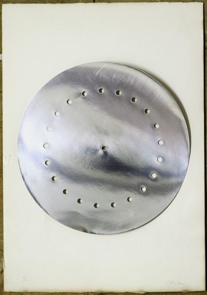 Lucio Fontana-Disco spaziale-1960