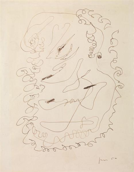 Lucio Fontana-Composizione-1950