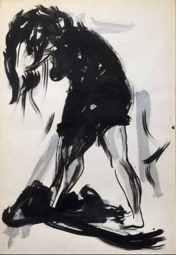 Lucio Fontana-Figura femminile-1960