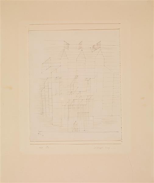 Paul Klee-Beflaggte Burg-1929