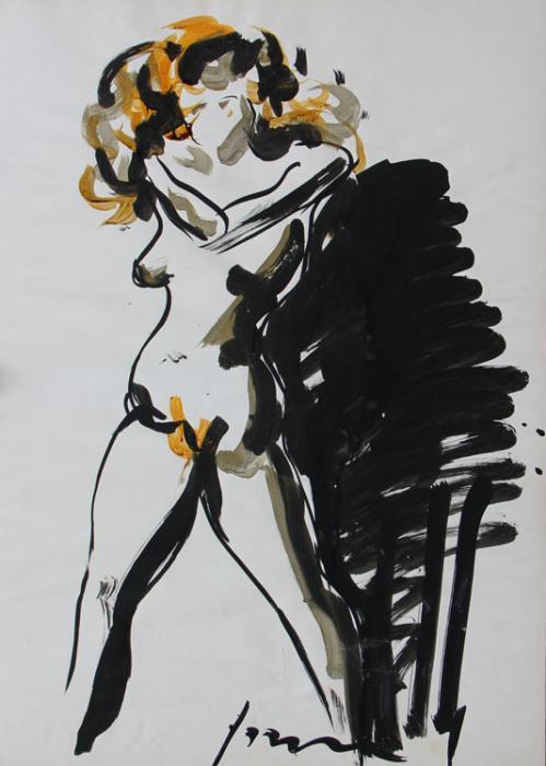 Lucio Fontana-Nudo femminile-1960