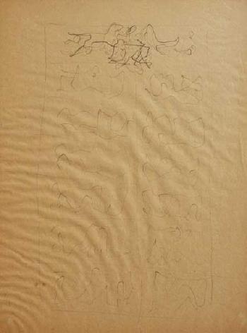 Lucio Fontana-Studio dinsieme per la V porta del duomo di Milano-1950