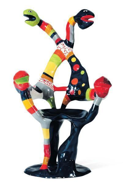 Niki de Saint Phalle-Fauteuil serpent-1982