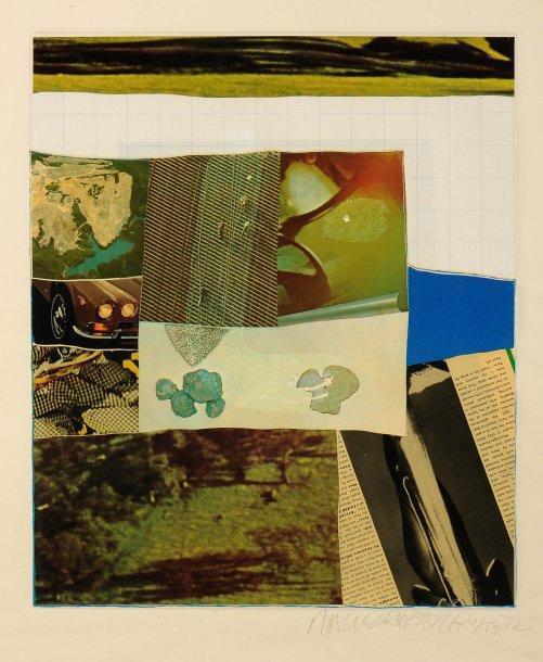Robert Rauschenberg-Robert Rauschenberg - Horsefeathers Thirteen (One Plate)-1972